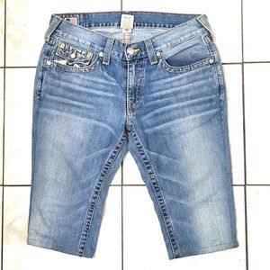 True Religion Billy Men's Blue Denim Shorts